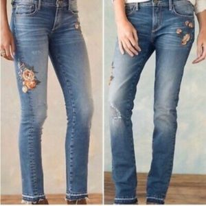 Driftwood Audrey Crave Embroidered Jeans Sz 27